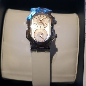 Philip stein Swiss sig mother of pearl watch